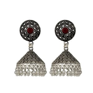 "Precious Jewellery - ""Piah Fashion Dazzling Silver Anti -Oxide pearl   Earring for Women'(code-9055)"