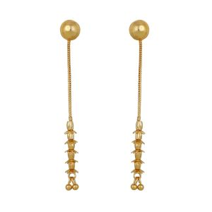 Piah Gold Plated Stud Cum Dangler Stylish Fashion Earrings Women Latest Design