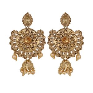 Piah Lct Gold Plated Drop Earrings Jumkhi For Women