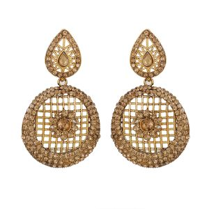 Piah Marvellous Lct Stone Gold Plated Ad Alloy Drop Earrings