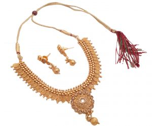 Fashion, Imitation Jewellery - Piah Fashion Divine Jalebi Necklace Set for Women'(code-9180)