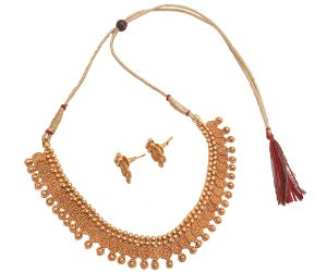 Piah Fashion Ideal Jalebi Pattern Drops Artificial Necklace Set For Women