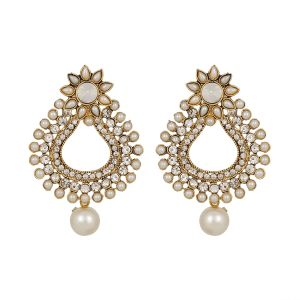 Piah Fashion Lct Good Looking Reuleaux Triangle Pearl Earrings For Women