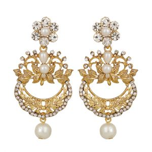 Piah Gold Plated Traditional Chandelier Earrings For Women