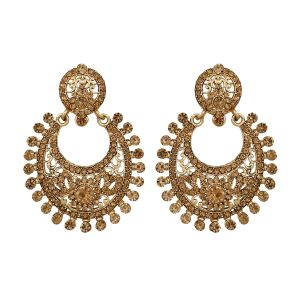 Piah Fashion Ethnic Gold Plated Chandbali Earrings For Women