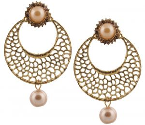 Piah Fashion Dangler Stylish Fancy Party Wear Chandbali Earrings For Girls And Women