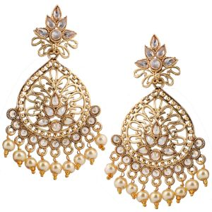 Piah Fashion Gleaming Drop Gold Plated Earring For Women Zinc Stud Earring