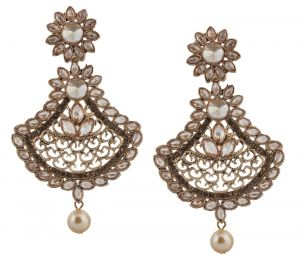 Piah Fashion Gold Plated Traditional Full Lct Stone Earring For Women And Girl