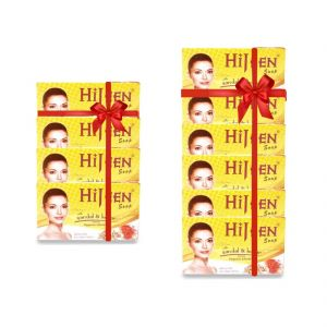 Skin Care - Hijeen Sandal & kesar Soap 75gm (Buy 4 Get 6)