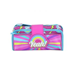 Smily Kiddos| Fancy Strap Pencil Case (pink)
