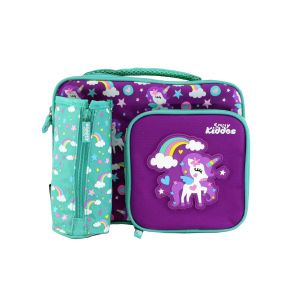 Office Bags - Smily Kiddos  Smily Multi Compartment Lunch (Purple)
