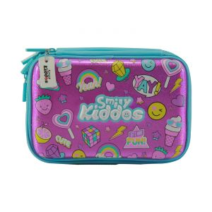 Smily Kiddos Fancy Double Compartment Pencil Case (pink)