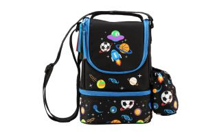 Smily Kiddos Smily Strap Lunch Bag ( Black)