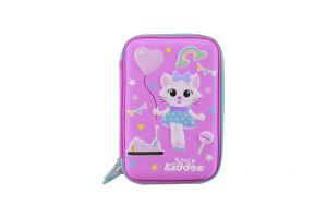 Smily Kiddos Smily Hartdtop Triple Up Pencil Case (pink)