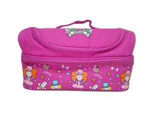 Smily Kiddos Smily Dual Slot Lunch Bag (pink)