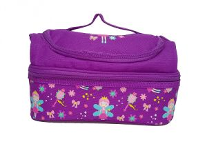 Office Bags - Smily Kiddos | Smily Dual Slot Lunch Bag (Purple)