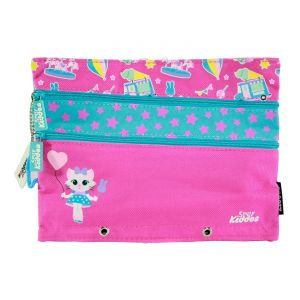 Kids' Accessories (Misc) - Smily kiddos  Fancy A5 pencil case (Pink)