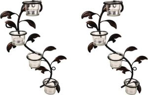 Hosley Iron Tealight Holder Set