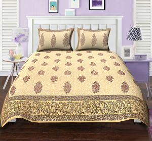 8207b6b843 TEXSTYLERS ETHNIC PRINT DOUBLE BED SHEET REK PAISLEY MAROON BLOCK STYLE  WITH 2 PILLOW COVERS( code - Et_Dbl_05 )