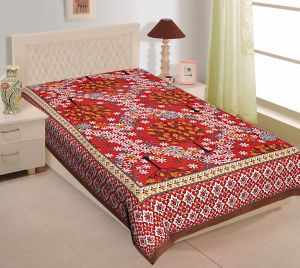 66e07ecf6b Texstylers 100% Cotton Single Bed Sheet Without Pillow Cover - (  code-Pr_Sgl_23 )