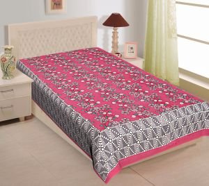 Bed Sheets - Texstylers 100% Cotton Single Bed Sheet Without Pillow Cover - ( code-Pr_Sgl_30 )