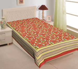 Texstylers 100% Cotton Single Bed Sheet Without Pillow Cover - ( Code-pr_sgl_33 )