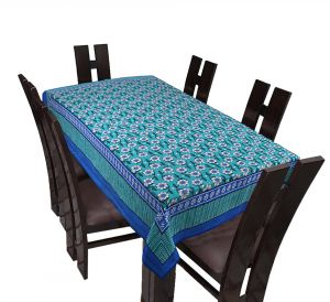 Furnishings - TEXSTYLERS Floral Cotton 6 Seater Table Cover - ( Pr_Tbc_10 )