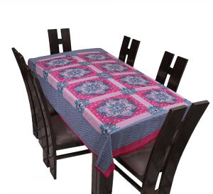 Furnishings - TEXSTYLERS Floral Cotton 6 Seater Table Cover - ( Pr_Tbc_18 )