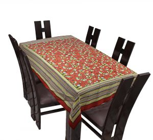 Home Decor & Furnishing - TEXSTYLERS Floral Cotton 6 Seater Table Cover - ( Pr_Tbc_33 )