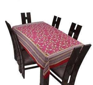 Home Decor & Furnishing - TEXSTYLERS Floral Cotton 6 Seater Table Cover - ( Pr_Tbc_34 )
