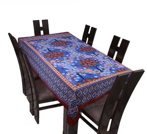 Texstylers 100% Cotton Screen Print 6 Seater Dining Table Cover - ( Code -pr_tc_05 )