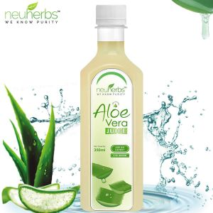 Sparkling Juices - Neuherbs Aloe Vera Juice With Fiber And No Added Sugar - 350 ml