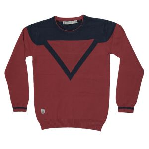 Gusto Red Cotton Full Sleeved Round Neck T_shirt For Boys (code _ 3423_red)