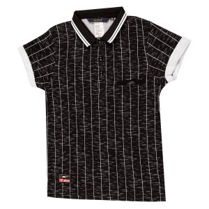 Gusto Black Lycra Stripes Printed Casual T_shirt For Boys (code _ 3565_black)