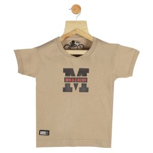 Polos & t shirts - Gusto Baby Boy's Beige Cotton Blend Round Neck T_Shirt_(Code-GJ095_FAWN)