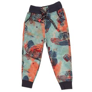 Gusto Rust Poly Cotton Relaxed Fit Casual Jogger Pants For Boys (code-j024_rust)