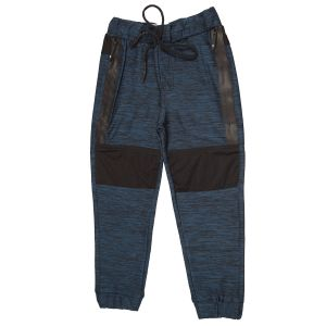 Gusto Blue Poly Cotton Relaxed Fit Casual Jogger Pants For Boys (code-j072_blue)