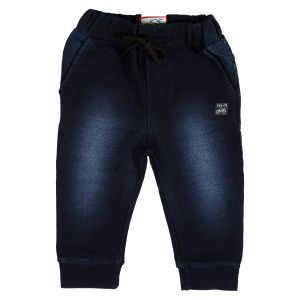 Boys - Gusto Baby Boy's Navy Blue Denim Relaxed Jogger Pants_(Code-J145_NAVY)