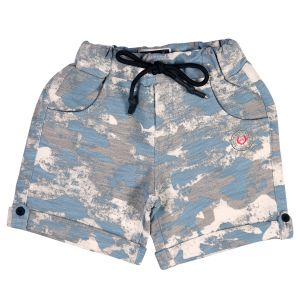 Shorts & bermudas - Gusto Baby Boy's Blue Cotton Blend Camouflage Printed Shorts_(Code-J195_BLUE)