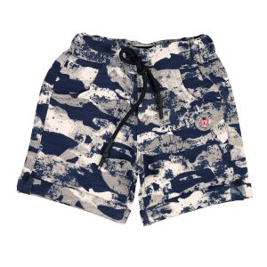 Boys - Gusto Baby Boy's Navy Blue Cotton Blend Camouflage Printed Shorts_(Code-J195_NAVY)