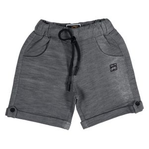Boys - Gusto Baby Boy's Gray Cotton Blend Relaxed Shorts_(Code-J196_GRAY)
