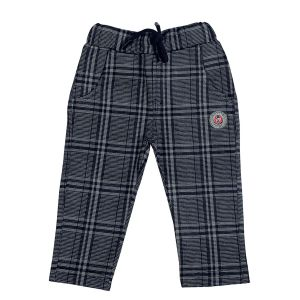 Trousers & cargos - Gusto Baby Boy's Black Self Chex Relaxed Jogger Pants (Code- J257_BLACK)