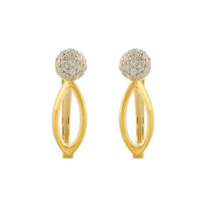 65946ff79 Silveratto Gold Plated Silver CZ Earrings For Womens By BLINGNEST - ( Code  - BOE0027 )