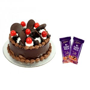 Bigwishbox Chocolate Cake With 2 Dairy Milk Silk