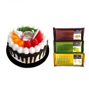 Bigwishbox Chocolate Cake With 3 Dairy Milk Temptation