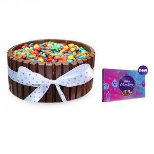 Bigwishbox Kitkat Chocolate Cake With Cadbury Celebration Set