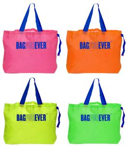 Tng,Bagforever,Clovia,Jagdamba,Azzra Handbags - Bagforever Pack Of 4 Multicolor Foldable Shopping Bags