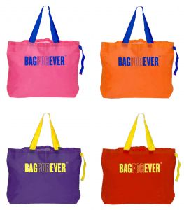 triveni,my pac,solemio,bagforever Women's Clothing - Bagforever Pack Of 4 Shopping Bags