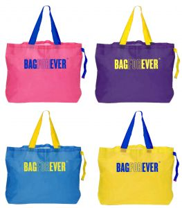 Triveni,Tng,Bagforever,Jagdamba,Mahi,Hoop,Kiara Handbags - Bagforever Pack Of 4 Multi-purpose Shopping Bags 6 Months Warranty