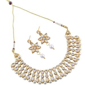Goldplated Stone Studded Necklace Set For Women.(code-nm-1365)
